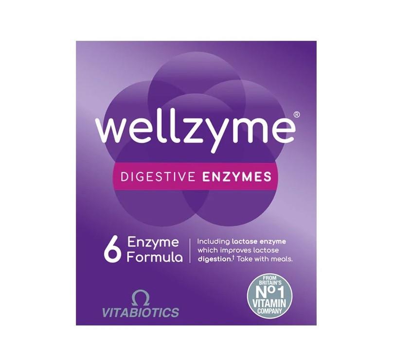 Vitabiotics Wellzyme Digestive Enzymes 6 Enzyme Advanced Formula - 60 Capsules
