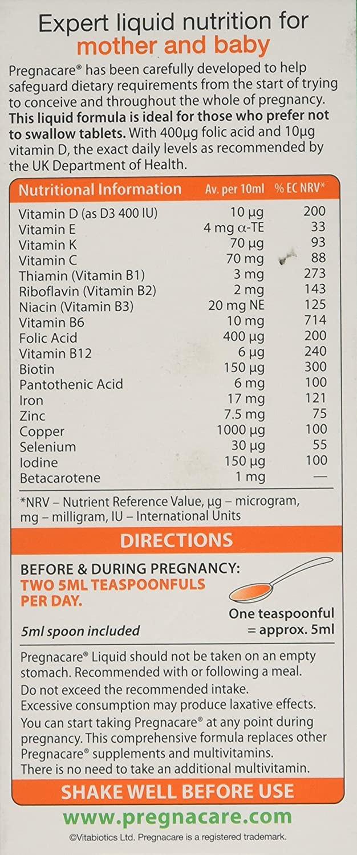 Vitabiotics Pregnacare Liquid 200ml