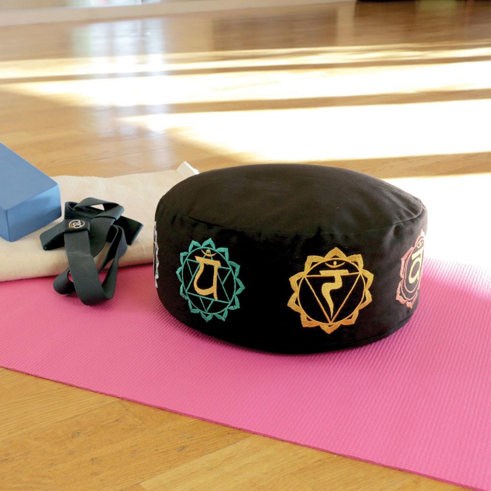 Round Patterned Zafu Mediation Cushion