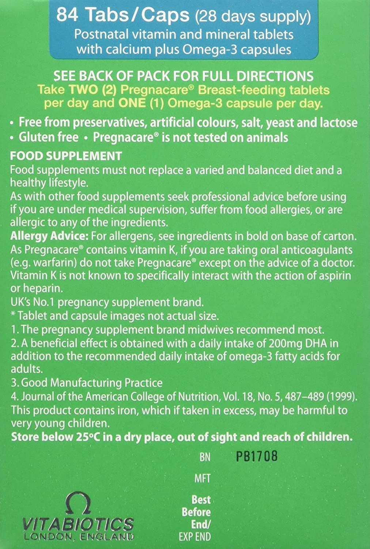 Vitabiotics Pregnacare Breastfeeding Dual Pack - 56 Tablets and 28 Capsules