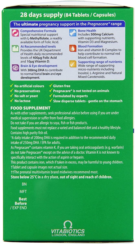 Vitabiotics Pregnacare Max Tablets Plus Omega 3