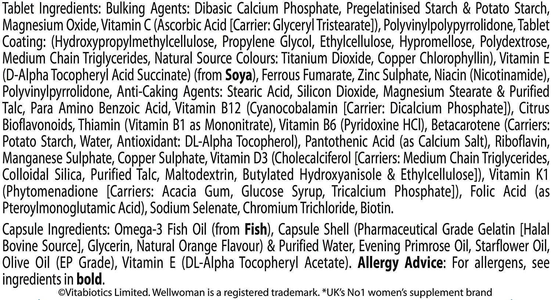 Vitabiotics Wellwoman Plus Omega 3-6-9 - 56 Tablets/Capsules