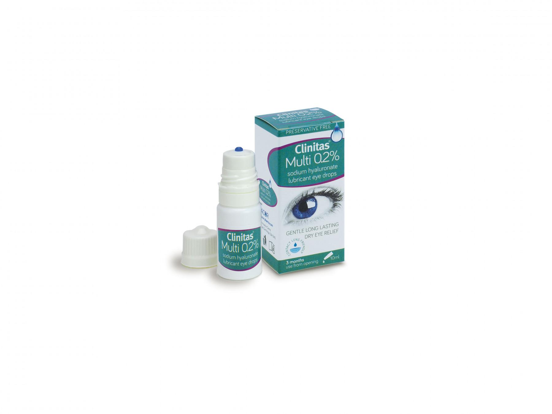 Clinitas Multi 0.2% Eye Drops 10ml Dry Eye Relief