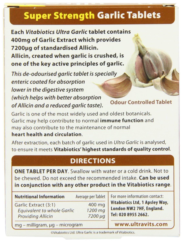 Vitabiotics Ultra Garlic Tablets - 60 Tablets