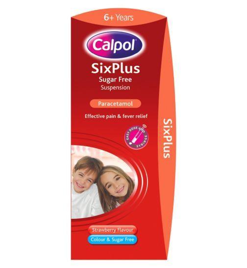 Calpol Six Plus Suspension Sugar Free 200ml