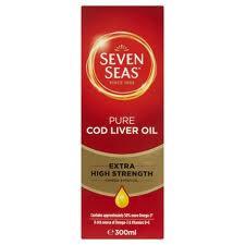 Seven Seas Pure Cod Liver Oil Extra High Strength 300ml
