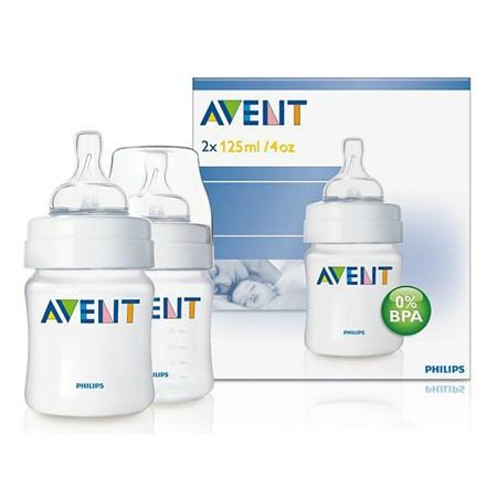 Philips Avent Twin Pack Feeding Bottles 125ml - BPA FREE