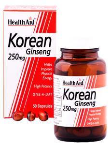 HealthAid Korean Ginseng 250mg Capsules