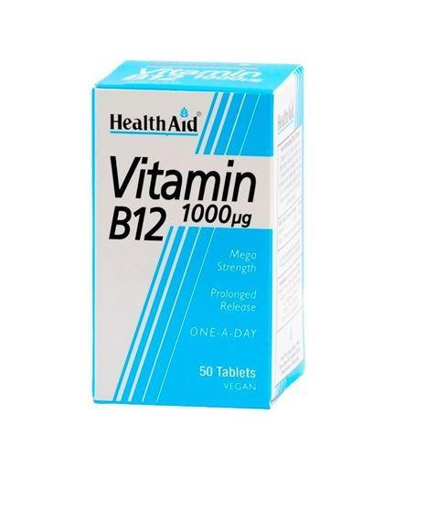 HealthAid Vitamin B12 1000ug 50 Tablets