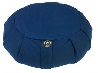 Zafu Round Pleated Buckwheat - Blue