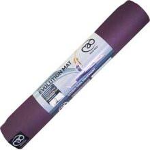 Yoga Mad Evolution Yoga Mat with Carry Strap - Aubergine