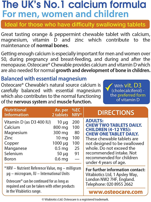Vitabiotics Osteocare Chewable Tablets - 30 Tablets