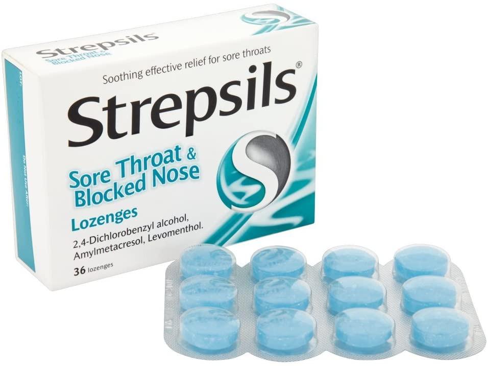 Strepsils Sore Throat And Blocked Nose 36 Lozenges