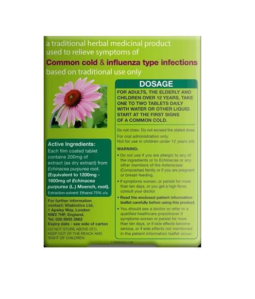 Vitabiotics Echinacea Tablets - 30 Tablets