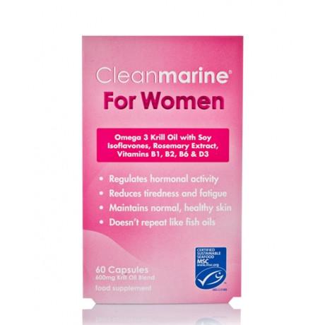 Cleanmarine for Women Omega 3 Krill Oil Capsules