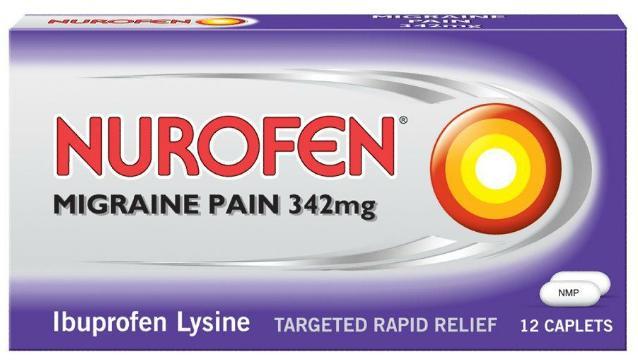 Nurofen Migraine Pain 342mg Caplets