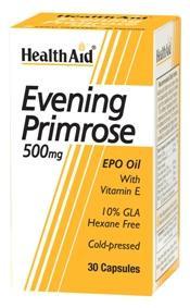 HealthAid Evening Primrose Oil with Vitamin E 500mg Capsules
