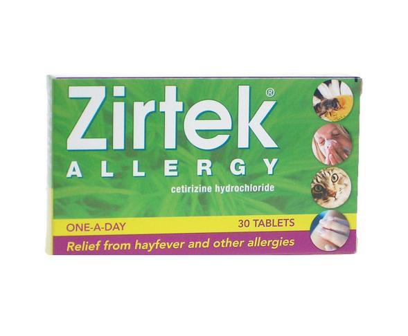 Zirtek Allergy Relief Tablets