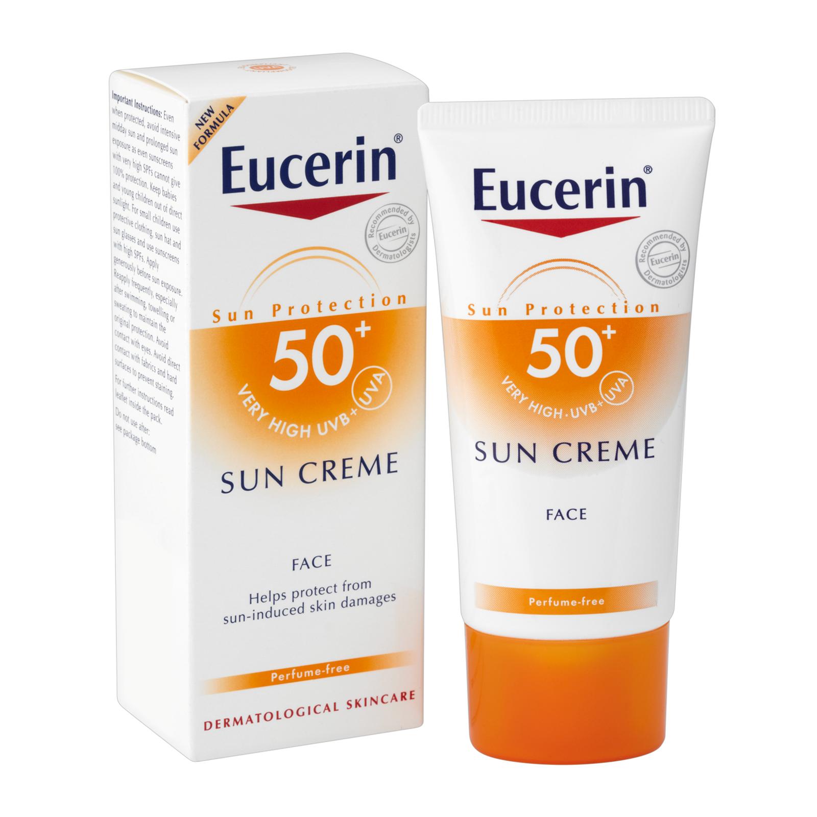 eucerin sun face cream spf50 50ml water resistant sun protection cream. Black Bedroom Furniture Sets. Home Design Ideas