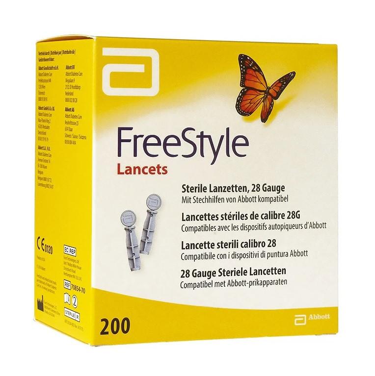FreeStyle Lancets - 200 Lancets and 28 Gauge Sterile Lancets