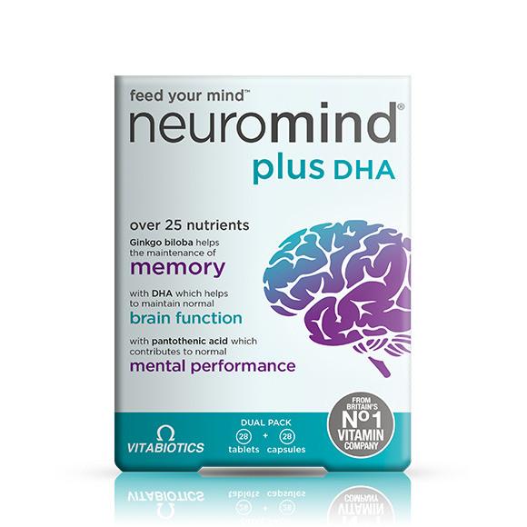 Vitabiotics Neuromind Plus DHA Dual Pack 56 Tablets and Capsules