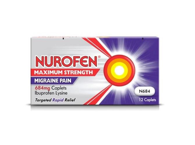 Nurofen Maximum Strength Migraine Pain 684mg Caplets