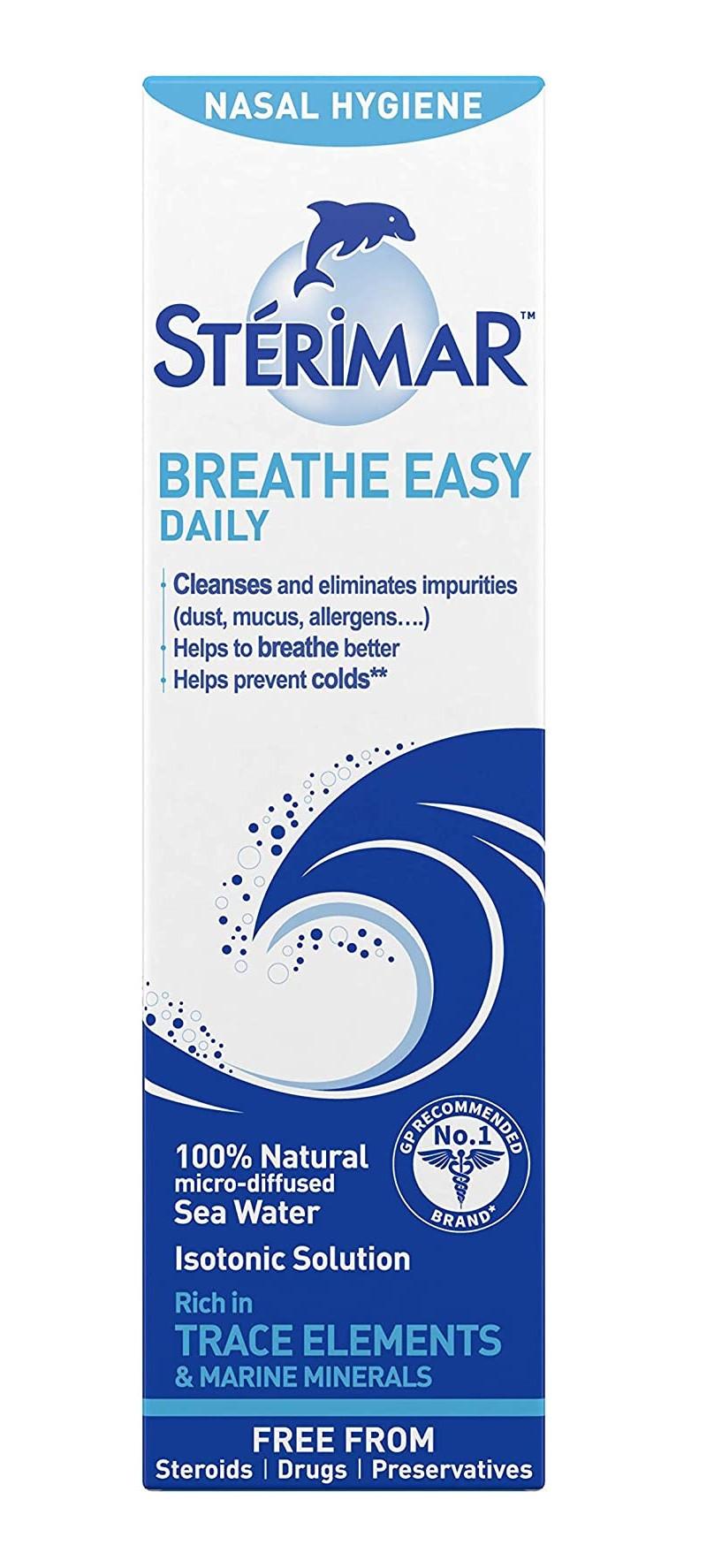 Sterimar Isotonic Nasal Hygiene Breathe Easy Nasal Spray 100ml