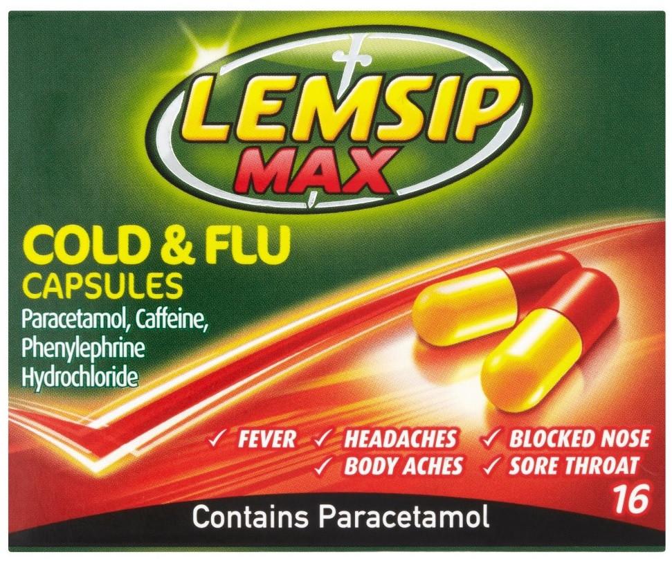 Lemsip Max Cold And Flu Capsules