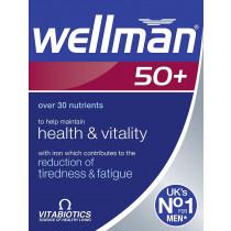 Vitabiotics Wellman 50+ 30 Tablets Health and Vitality