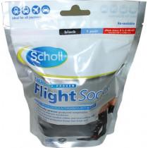 Scholl Black Cotton Feel Flight Socks - Size 6.5 to 9