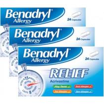 Benadryl Allergy Relief Capsules Triple Pack Offer