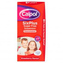 Calpol Six Plus Sugar Free Suspension 100ml