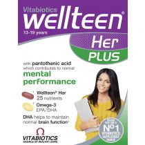 Vitabiotics Wellteen Her Plus Dual Pack 56 Tabs/Caps