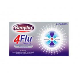 Benylin 4 Flu Tablets 24 Tablets