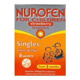 Nurofen For Children Strawberry Flavoured Sachets - 8 x 5ml