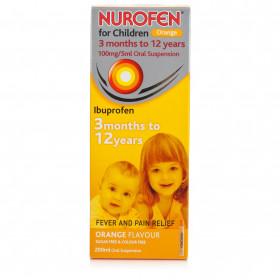 Nurofen For Children Orange Flavour Sugar Free Suspension 200ml