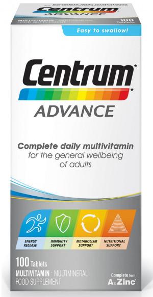 Centrum Advanced Multi Vitamin 100 Tablets