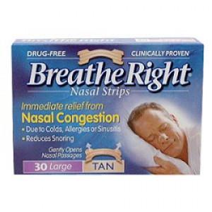 Breathe Right Nasal Strips - Large Tan