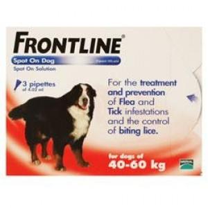 Frontline Spot on Dog for X-Large Dogs 40kg to 60kg