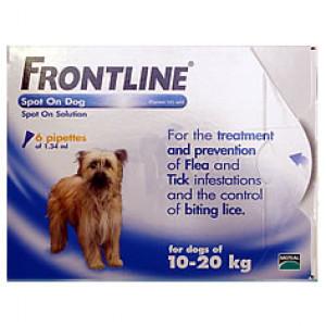 Frontline Spot on Dog for Medium Dogs 10kg to 20kg