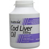 HealthAid Cod Liver Oil 550mg 180 Capsules