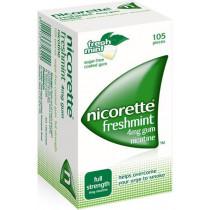 Nicorette Freshmint Gum 4mg - 105 Pieces