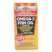 Haliborange Kids Omega 3 Orange Chewable Fruit Burst Capsules