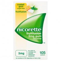 Nicorette Fruit Fusion 2mg Gum Nicotine 105 Pieces