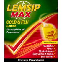 Lemsip Max Cold and Flu Lemon Sachets
