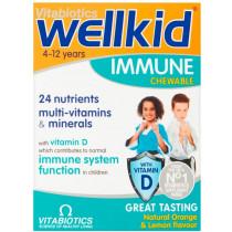 Vitabiotics Wellkid Immune Chewable Tablets - 30 Tablets