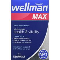 Vitabiotics Wellman Max Tablets and Capsules
